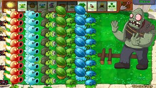 Plants vs Zombies Battlez All Pea PVZ, Melon Pult,  vs Cattail vs All Zombies
