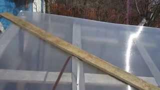 Сотовый поликарбонат на деревянную теплицу 2(, 2014-04-28T07:22:00.000Z)