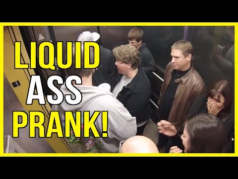 Liquid Ass Elevator PRANK! Greatest Elevator PRANK!