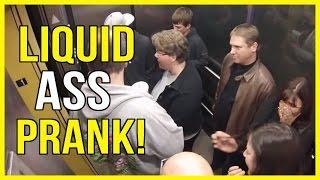 Liquid Ass Elevator PRANK! Greatest Elevator PRANK!