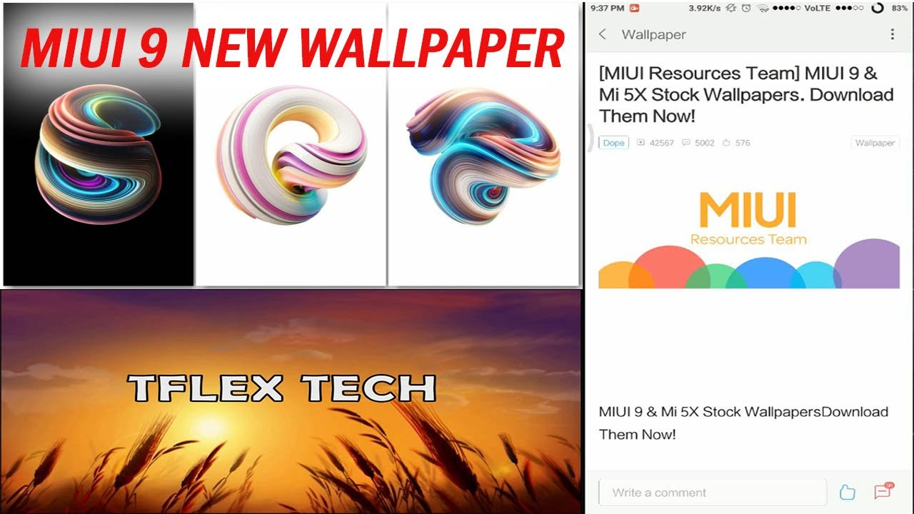 Miui 9 Mi 5x Latest Stock Wallpapers New Blue Wallpaper Download Them Now 2017