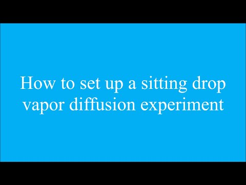 Protein crystallization sitting drop vapor diffusion
