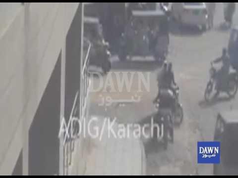 کراچی میں فوجی جوانوں پر حملہ، سی سی ٹی وی فوٹیج موصول