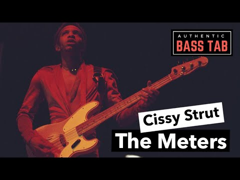 Cissy Strut - The Meters 🎸Authentic Bass Cover + TAB