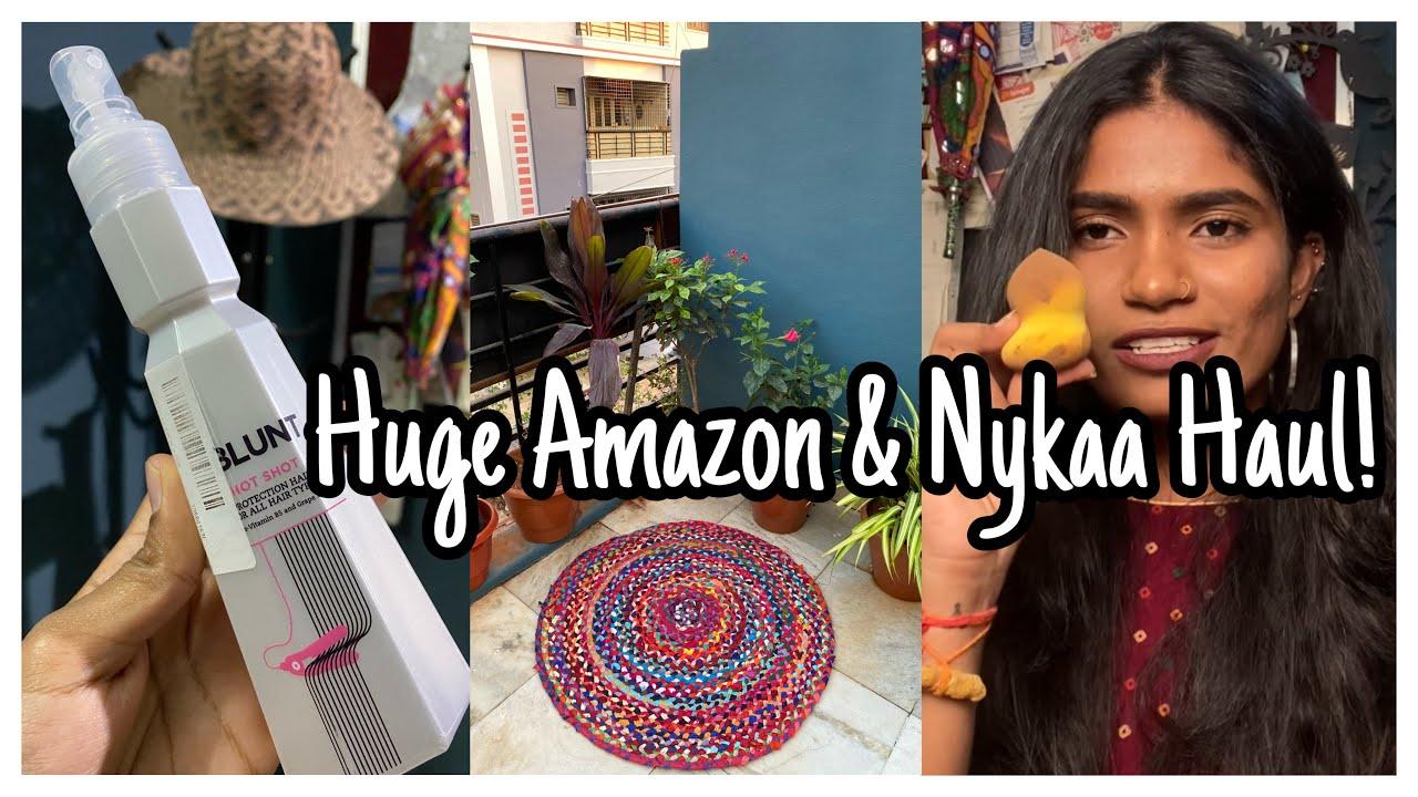 Huge Amazon & Nykaa Haul | Makeup,Skincare | Terrace Garden | nayalooks | Navya Varma
