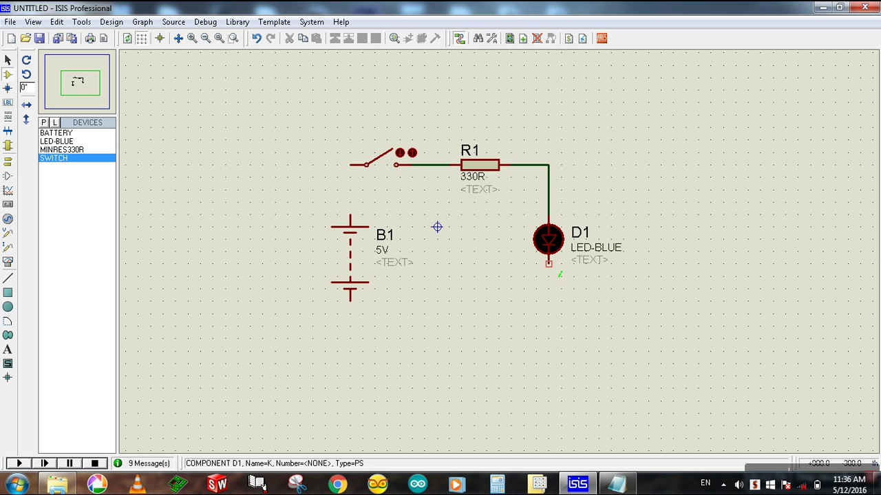 How To Design And Simulate A Simple Circuit In Proteus Making Designing Led