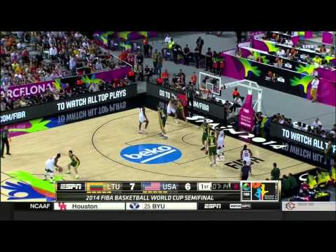 Fiba 2014 World Cup Semifinals USA - Lithuania Q1 HD
