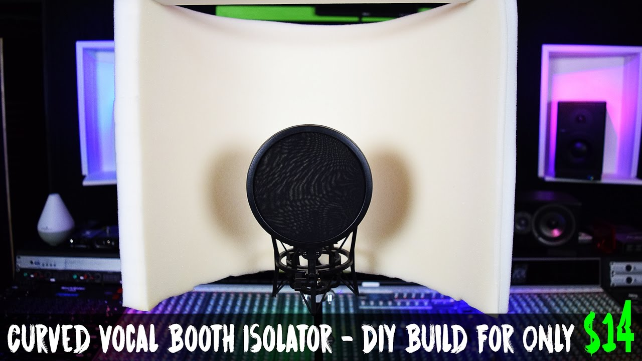 Curved Vocal Booth Isolator