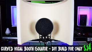 Curved Vocal Booth Isolator - DIY Build For Only $14 (Beginners Vocal Booth)