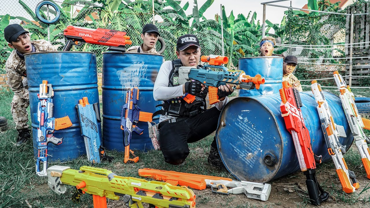 LTT Game Nerf War : Special Police Warriors SEAL X Nerf Guns Fight Mr Zero Crazy Banned Goods Dealer
