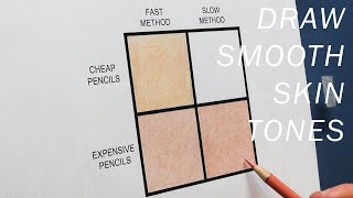 HOW TO DRAW AND BLEND REALISTIC SKIN TONES & TEXTURES