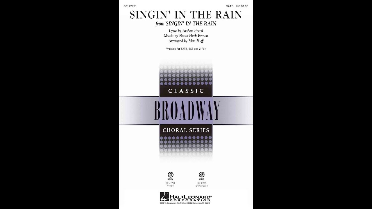 Singin' In The Rain (SATB Choir) - Arranged by Mac Huff