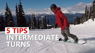 5 Tips for Intermediate Sliding Turns - Snowboard Tutorial