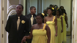 Bridal Party Processional at A Haitian Wedding Ceremony in Toronto | GTA Videography Photography