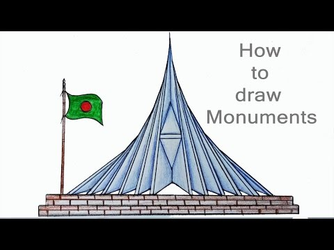 Monuments Pictures To Draw Step By Step