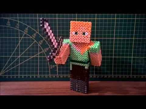 3D PERLER BEAD MINECRAFT Alex Tutorial