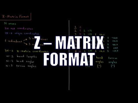 Computational Chemistry 1.10 - Z-Matrix Format