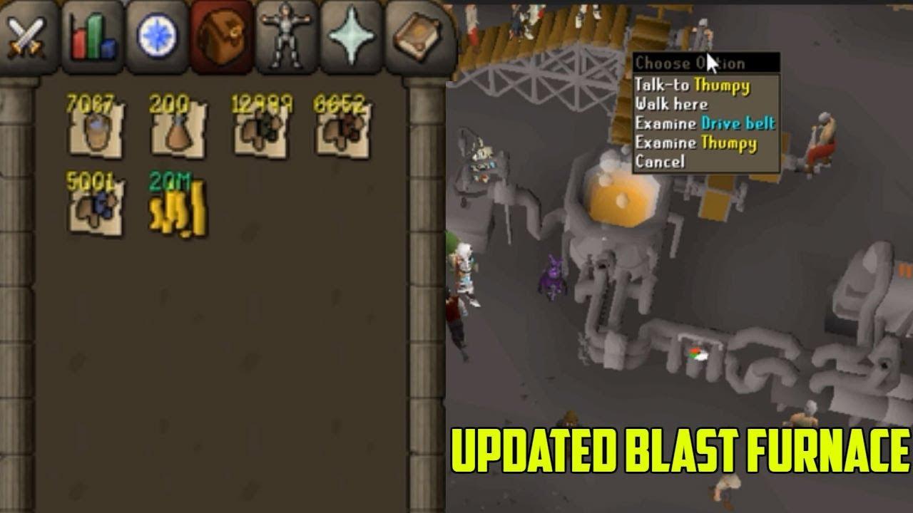 osrs testing new updated blast furnace youtube