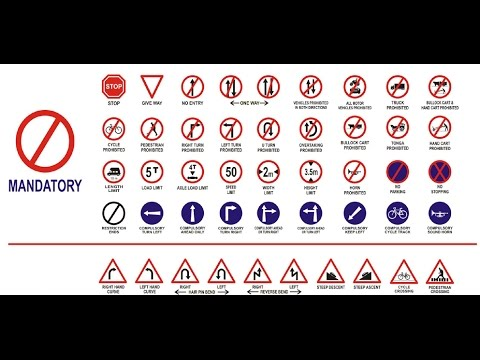 Traffic Rules Regulations And Road Safety Sign Youtube