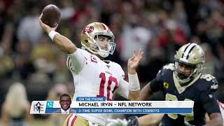 NFL Network's Michael Irvin Previews the NFC Divisional Round Games | The Rich Eisen Show | 1/9/20