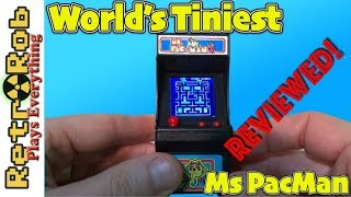 World/'s Smallest Tiny Arcade MS Mini Retro Video Game Machine PAC-MAN