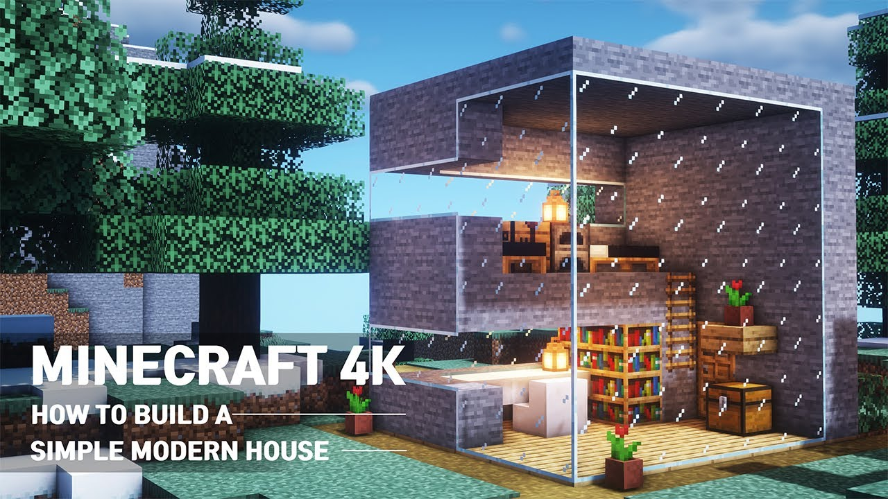 Minecraft Tutorial How To Build A Small Easy Modern House 104 Youtube