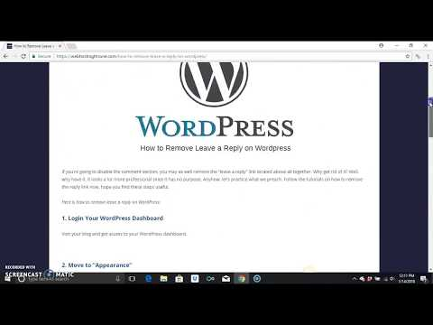 How to remove Leave a Reply Wordpress