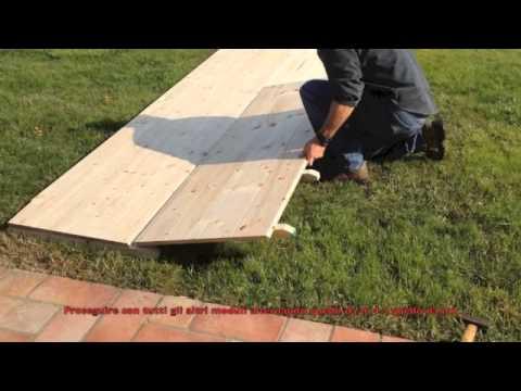 Montaggio pavimento per gazebo youtube - Pavimento esterno finto legno ...