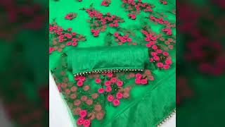 Beautiful Saree in net and silk //buy online