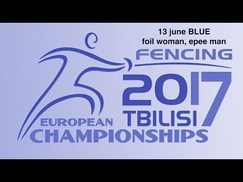 #European Champioships Tbilisi Woman Foil/Man Epee individual BLUE piste
