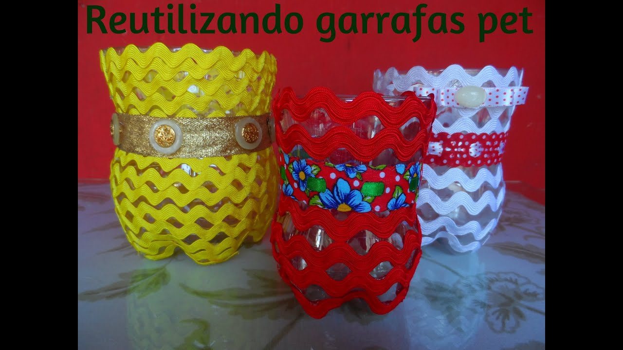 Muitas vezes DIY - POTINHOS DE GARRAFA PET . - YouTube CY04