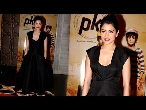 a04b2e93d8b Anushka Sharma Wears Full Skirted Michael Kors Midi Dress At PK Success Bash