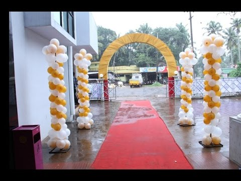 Wedding hall decoration with balloons youtube wedding hall decoration with balloons junglespirit Image collections