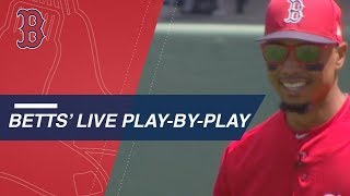 Mookie Betts' HILARIOUS reaction while mic'd up