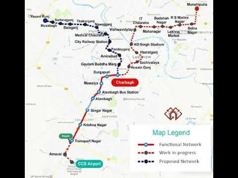 Lucknow Metro Map.Lucknow Metro Map Youtube