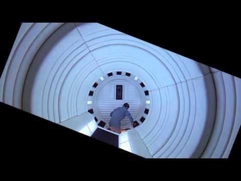 2001: A Space Odyssey Rotating Hallway Shot Stabilized