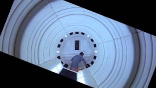2001: A Space Odyssey Rotating Hallway Shot Stabilized