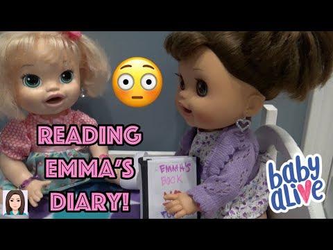 Baby Alives Read Emma's Diary! 😳