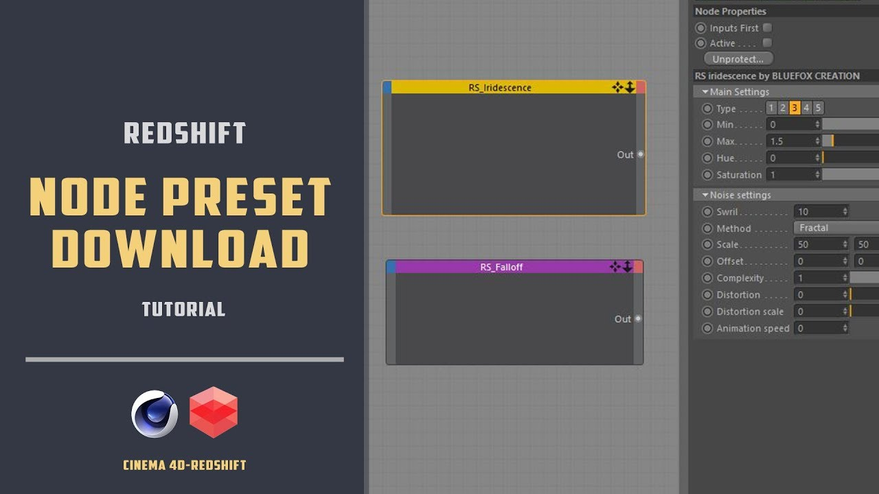 Redshift-c4d Node preset download[CINEMA 4D TUTORIAL]