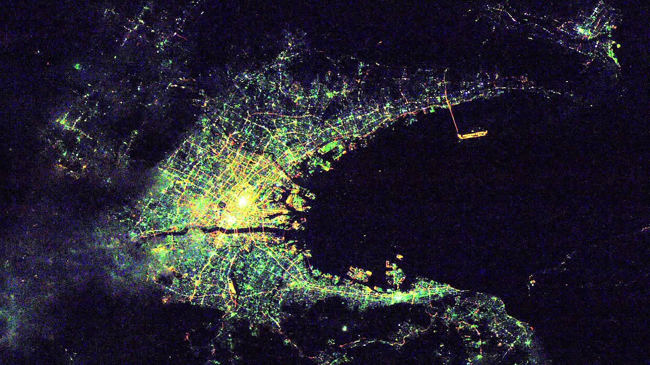 Part i high res images of cities at night from iss youtube voltagebd Choice Image