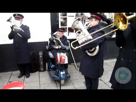 Salvation Army Band plays Carols in The Square on Christmas Eve 2011