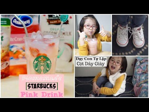 Làm Pink Drink Của STARBUCKS Tại Nhà ♥ Nấu Cơm Chiều ♥ DONUT TỰ CỘT GIÀY   mattalehang