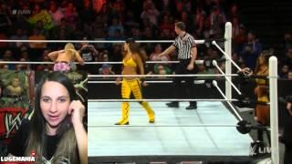 WWE Raw 2/23/15 #GiveDivasAChance Quick Match