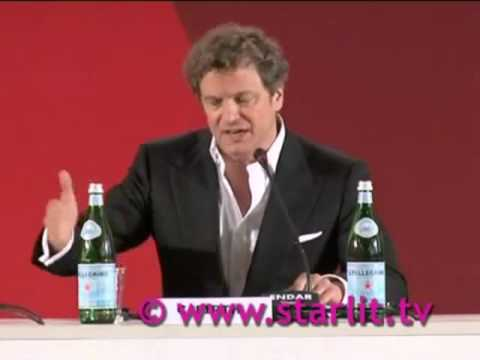 Colin Firth speaking Italian at Venice Film Festival