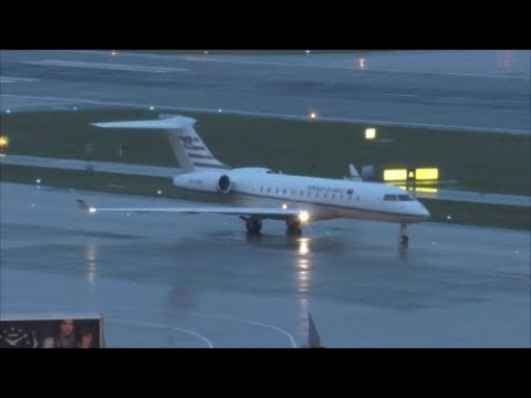 (WEF 2018) RARE!!! Angola Government Global Express at Zürich-Kloten with live ATC