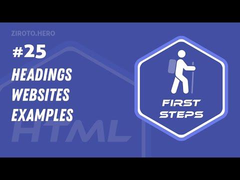HTML Basics In Darija Arabic #25 Headings (Websites Examples)