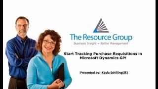 Microsoft Dynamics GP 2015 Workflow Purchase Requisitions
