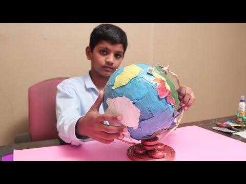 Newspapaer Crafts - How To Make Mini Globe Using Newspaper - DIY Newspaper Recycling Craft