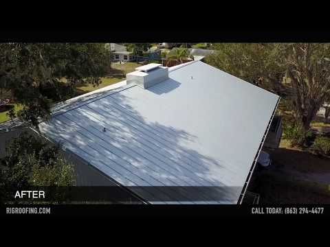 Aerial Video - Winter Haven Residential Metal Roof Replacement by R.I.G. Roofing
