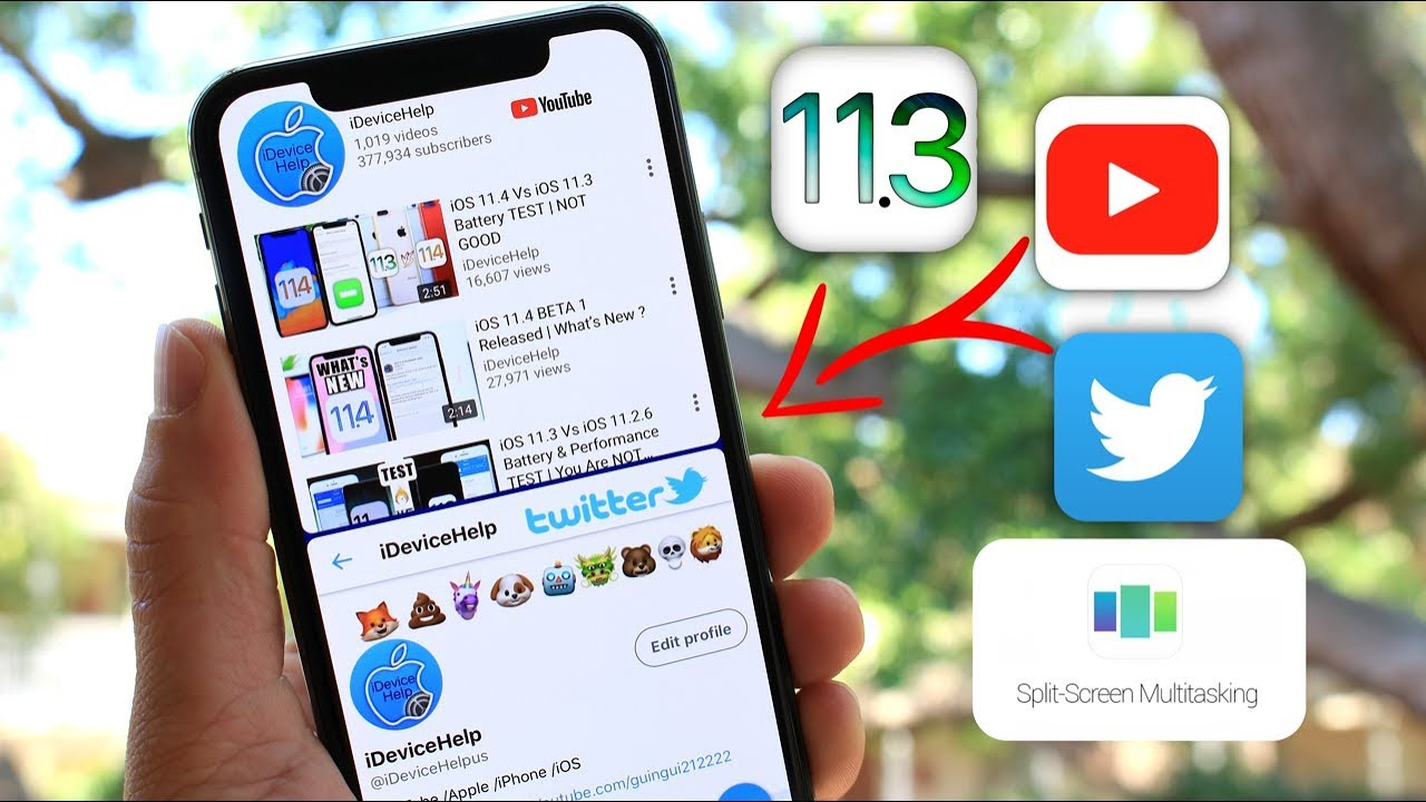 Split Screen Multitasking for iOS 11 3 | How To Use Two Apps at The Same  Time